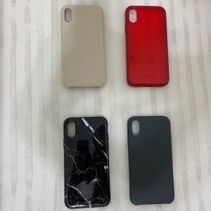 Selling 4 iPhone X cases